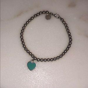 Tiffany & Co. Sterling Silver Mini Heart Bracelet